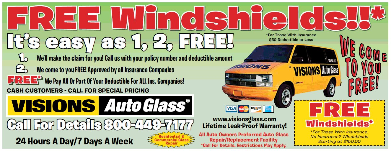 Coupon Visions Auto Glass